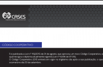 Newsletter CASES - Novo Código Cooperativo